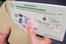 Driving licence with paper counterpart